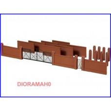 41622 AUHAGEN - Cancello e muro di recinzione 1:87