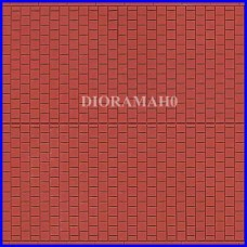 52424 AUHAGEN - Lastricato bettonelle rosse - scala HO -