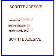 Scritte adesive in scala H0 1:87