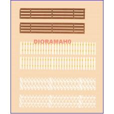 42557 AUHAGEN - Recinzioni steccati in legno - tre tipi H0