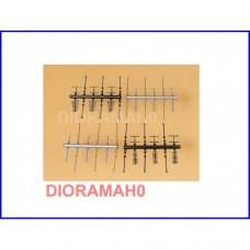 42653 AUHAGEN - Antenne TV 24 pz in scala H0 TT