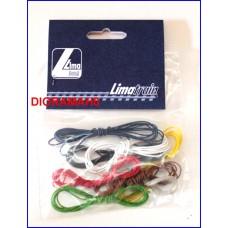 L600518 LIMA - Confezione nuova 8 cavetti colorati