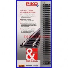 55200 PIKO - Binario dritto lunghezza 239 mm