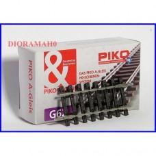 55205 PIKO HO Binario dritto corto 62 mm