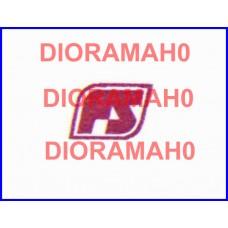 Decals coppia logo FS Losanga - rosso fegato 1982 - 1/87