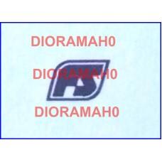Decals coppia logo FS Losanga - nero 1982 - 1/87