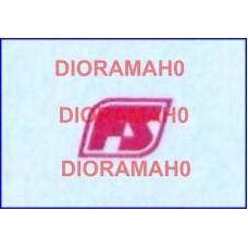 Decals coppia logo FS Losanga - rosso 1982 - 1/87