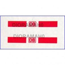 Decals coppia simbolo DB colore rosso 1/87