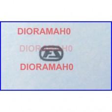 Decals coppia logo FS Argento - 1/87