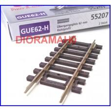 55207 PIKO - Binario di compensazione/adattatore/transizione 62 mm