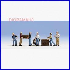 15031 NOCH - Operai al lavoro con accessori - DIORAMA H0