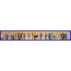 14412 PREISER - Confezione di 36 personaggi passanti - figurini H0