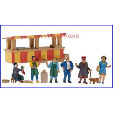 15471 NOCH - Set mercatino con personaggi e accessori - dioramah0
