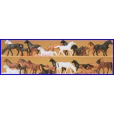 14407 PREISER - Confezione 26 cavalli scala H0