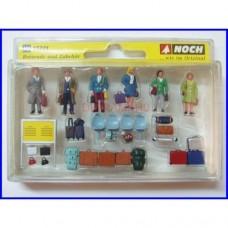 15221 NOCH - Set viaggiatori con accessori in scala H0 - diorami figurini