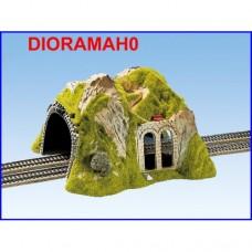 02430 NOCH - Tunnel con diorama - a lato viadotto - doppio binario