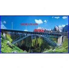 120535 FALLER HO - Grande ponte ferroviario con struttura metallica
