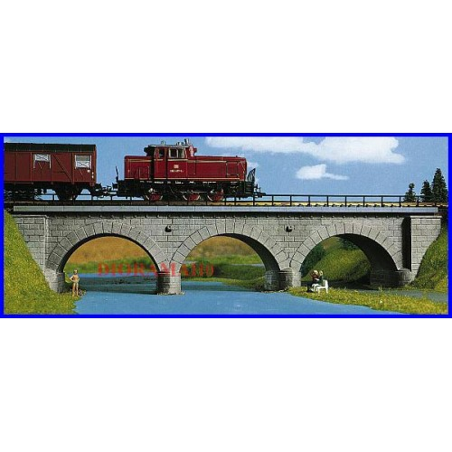 39707 Kibri HO Ponte ferroviario ad arcata metallica 1 binario kit scala 1:87