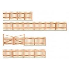 38625 KIBRI - Muretto con staccionata in legno 1/87