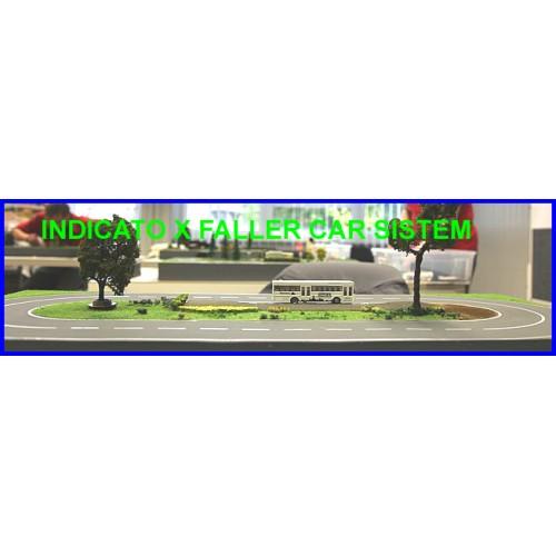 Strada asfaltata grigio chiaro  8 x 100 cm scala H0 NOCH 60703